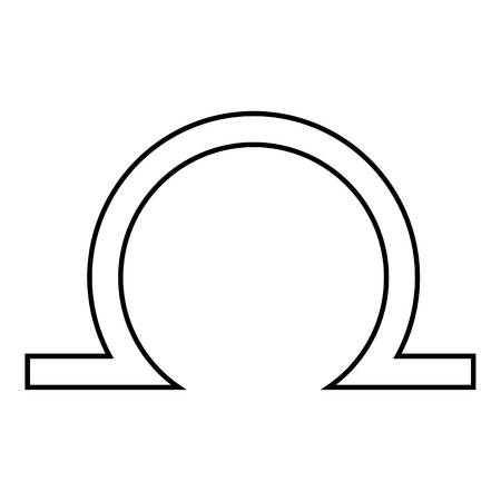 zodiacal symbol: Libra icon. Outline illustration of libra vector icon for web Illustration