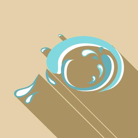 granola: Big wave icon. Flat illustration of big wave vector icon for web