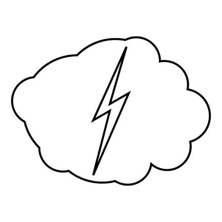 electroshock: High voltage icon. Outline illustration of high voltage vector icon for web