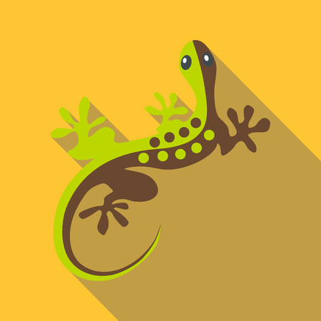 Gecko icon. Flat illustration of gecko vector icon for web Illustration