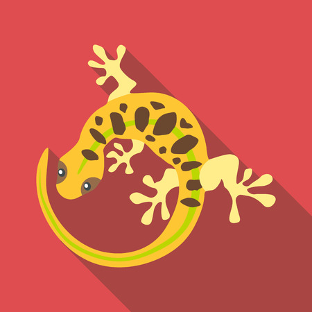 Spotted lizard icon. Flat illustration of spotted lizard vector icon for web