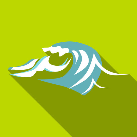 Twist wave icon. Flat illustration of twist wave vector icon for web