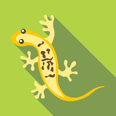 Little lizard icon. Flat illustration of little lizard vector icon for web