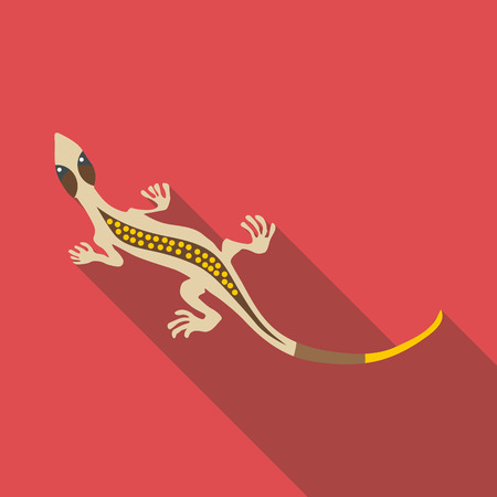 stripped: Gray lizard icon. Flat illustration of gray lizard vector icon for web