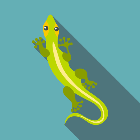 Little clever lizard icon. Flat illustration of little clever lizard vector icon for web Illustration