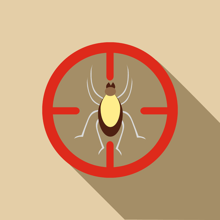 bloodsucker: Mite icon. Flat illustration of mite vector icon for web