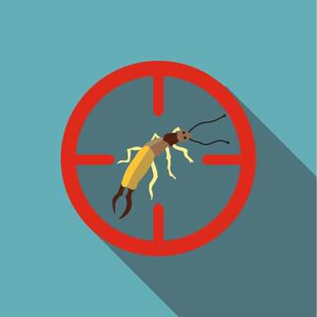 poisonous: Poisonous bug icon. Flat illustration of poisonous bug vector icon for web Illustration