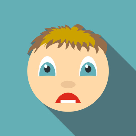 shaken: Surprised icon. Flat illustration of surprised vector icon for web Illustration