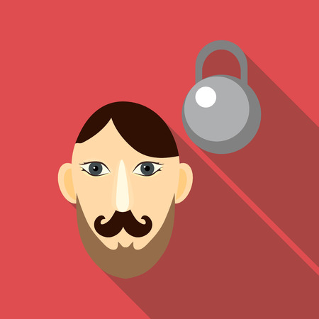 Strong icon. Flat illustration of strong vector icon for web Illustration