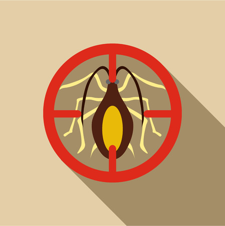 Cockroach icon. Flat illustration of cockroach vector icon for web Illustration