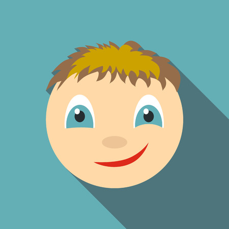 Smirking icon. Flat illustration of smirking vector icon for web