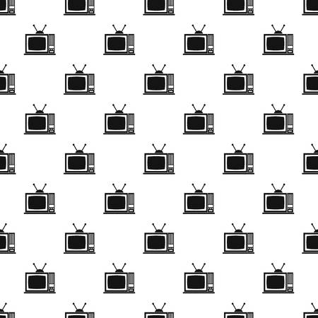 retro tv: Retro TV pattern, simple style Illustration