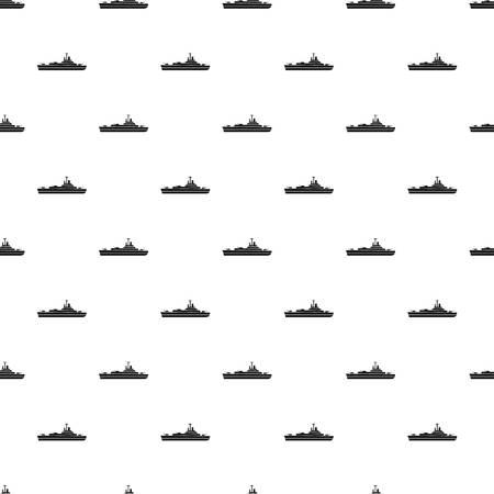 corvette: Military navy ship pattern. Simple illustration of military navy ship vector pattern for web