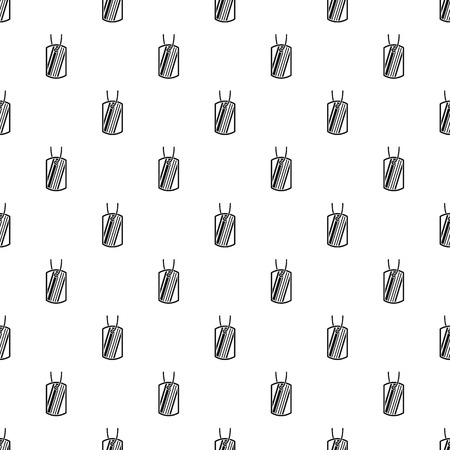 Identification army badge pattern, simple style Illustration