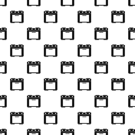 hob: Electric cooker pattern, simple style Illustration