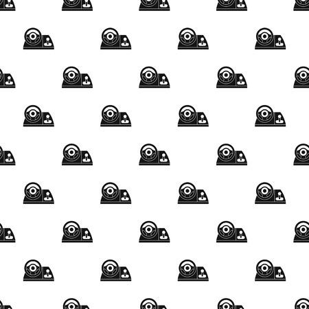 computer simulation: Computer steering wheel pattern, simple style Illustration