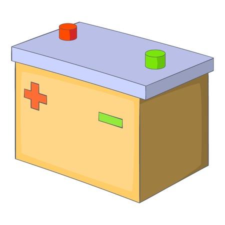 amperage: Car accumulator, icon. Cartoon illustration of car accumulator vector icon for web