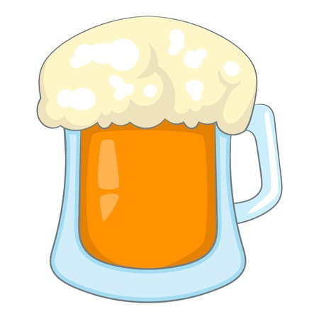 draught: Beer icon. Cartoon illustration of beer vector icon for web