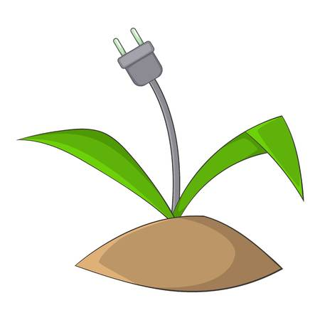 Wire plug icon. Cartoon illustration of wire plug vector icon for web Illustration