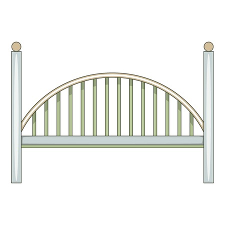 rope bridge: Bridge icon. Cartoon illustration of bridge vector icon for web
