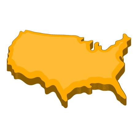 American map icon. Cartoon illustration of american map vector icon for web Illustration