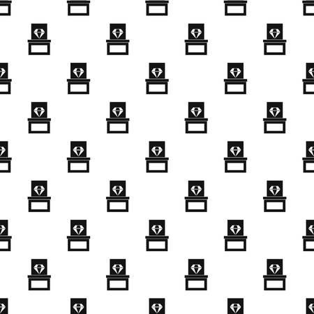 페 데 스탈 패턴에 다이아몬드입니다. 웹에 대 한 페 데 스탈 벡터 패턴에 다이아몬드의 간단한 그림