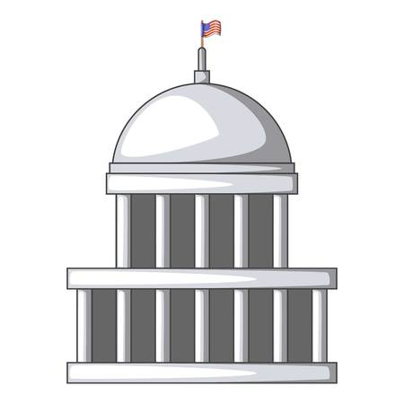 congress: White house icon. Cartoon illustration of white house vector icon for web Illustration