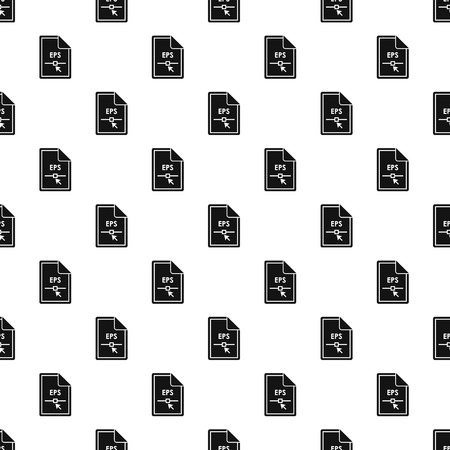 postscript: EPS file pattern. Simple illustration of EPS file vector pattern for web