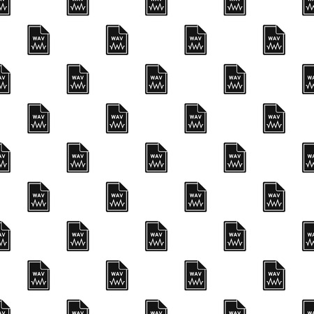 wav: WAV file pattern. Simple illustration of WAV file vector pattern for web