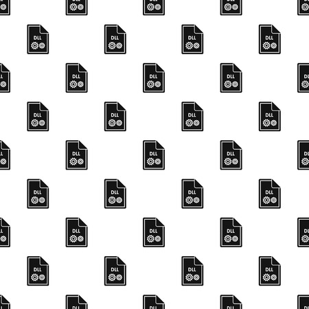 typ: DLL file pattern. Simple illustration of DLL file vector pattern for web Illustration