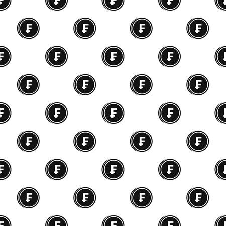 Währung Der Schweiz Franken-Symbol Im Umriss-Stil Isoliert Auf ...