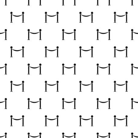 barrier rope: Barrier rope pattern. Simple illustration of barrier rope vector pattern for web