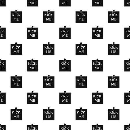 prankster: Kick me sticker pattern, simple style