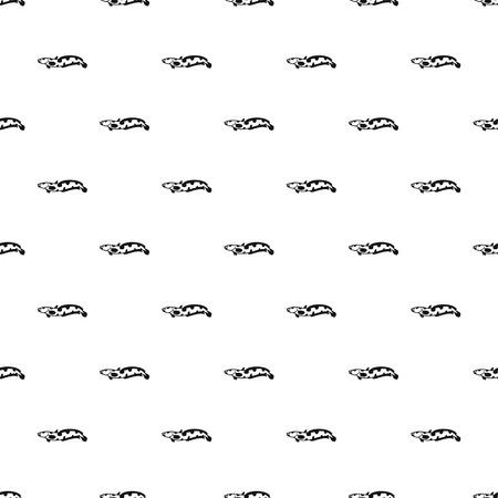 Snakehead Fischmuster, einfacher Stil Standard-Bild - 69125524