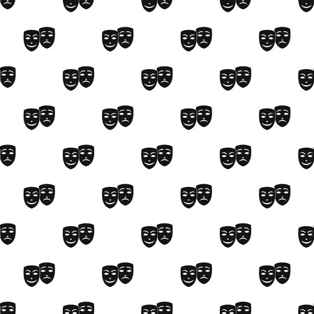 comedy and tragedy: Comedy and tragedy masks pattern, simple style