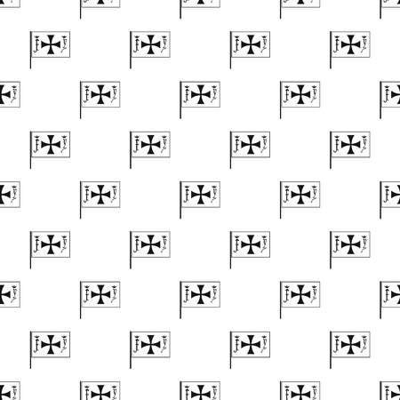 black maria: Christopher Columbus flag pattern, simple style