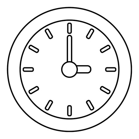 Clock icon, outline style Illustration