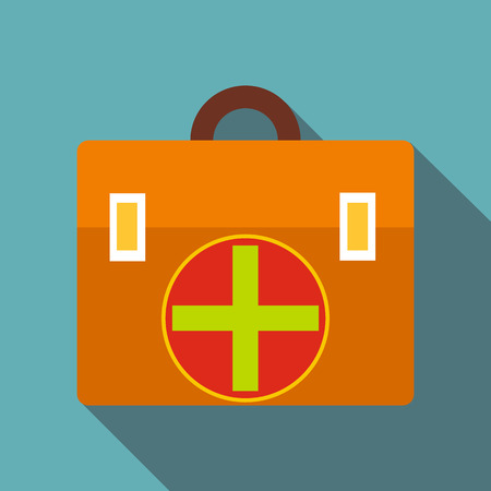 First aid icon , flat style