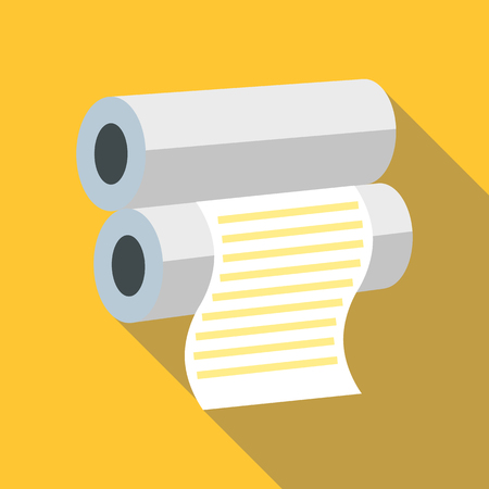 Fax paper icon, flat style Illustration
