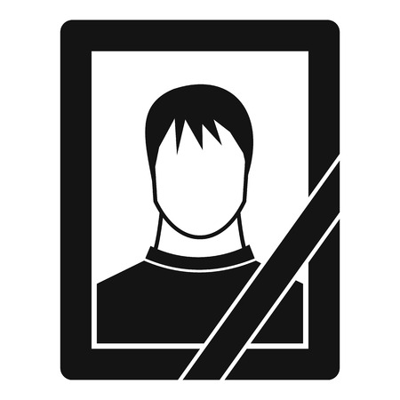 memory loss: Memory portrait icon. Simple illustration of memory portrait vector icon for web Illustration