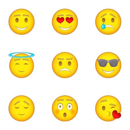 surprisingly: Emoji icons set, cartoon style