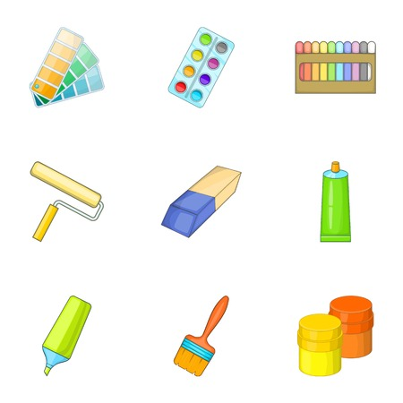 art painting: Art instruments for painting icons set