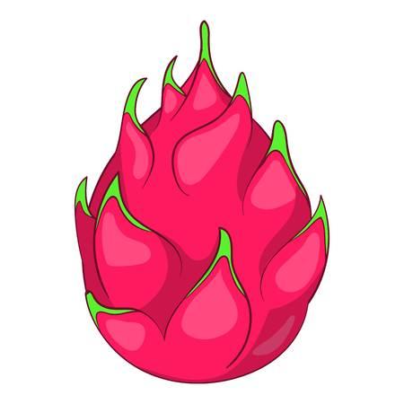 Dragon fruit pictogram, cartoon stijl Vector Illustratie