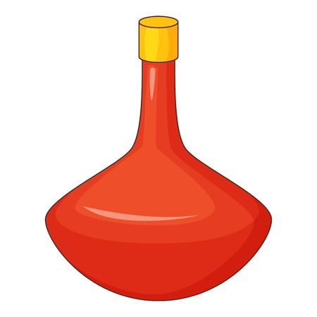 purify: Red bottle icon, cartoon style