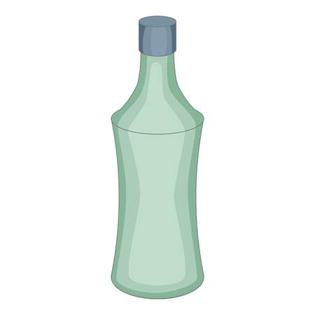 purify: Glass bottle icon. Cartoon illustration of glass bottle vector icon for web design