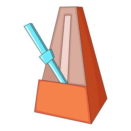 tact: Metronome icon. Cartoon illustration of metronome vector icon for web design