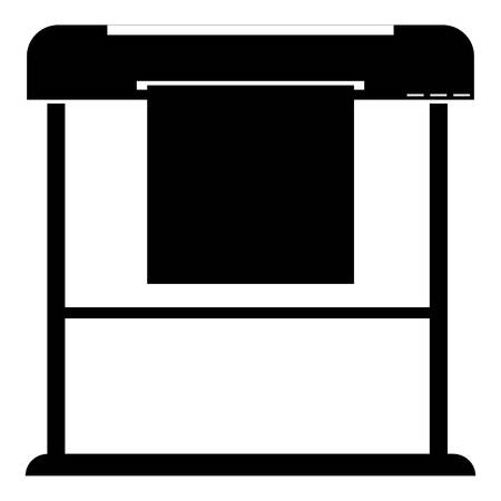 Printer icon. Simple illustration of printer vector icon for web Ilustracja