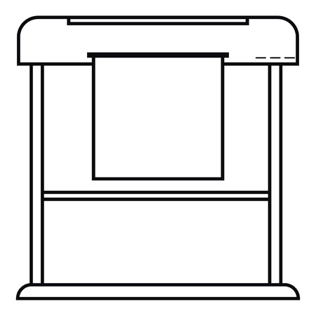 Printer icon. Outline illustration of printer vector icon for web