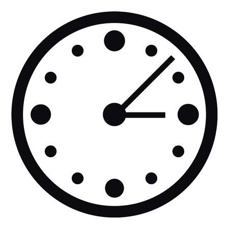 big timer: Big wall clock icon. Simple illustration of big wall clock vector icon for web Illustration