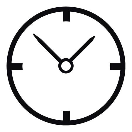 big timer: Small wall clock icon, simple style